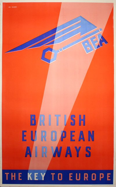 BEA The key to Europe original poster designed by Lee-Elliott, Theyre (1903-1988)