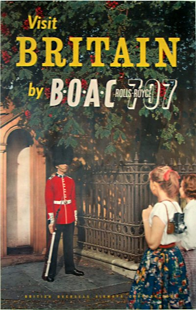 Britain by BOAC poster