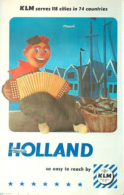 KLM - Holland original poster