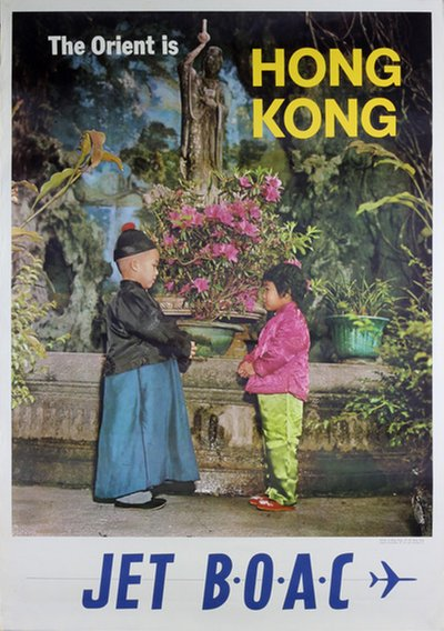 BOAC - The Orient is Hong Kong poster