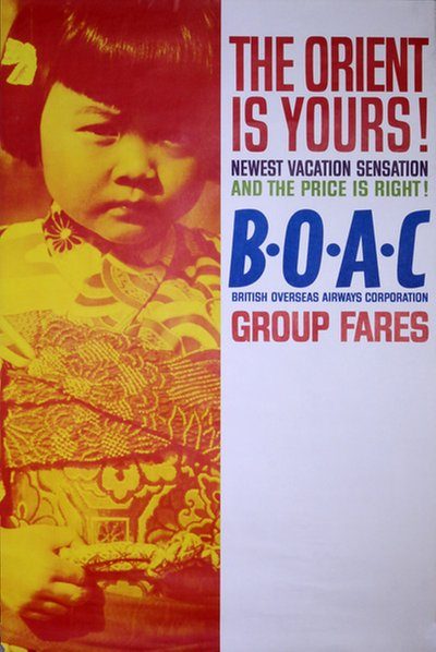 BOAC - The Orient is Yours! original poster