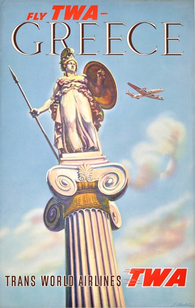 TWA Greece original poster