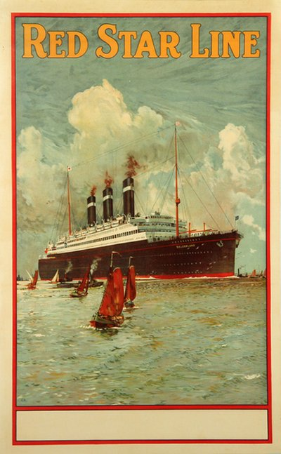 Red Star Line - S/S Belgenland poster designed by DOR