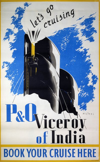 P O Viceroy of India poster designed by Michel