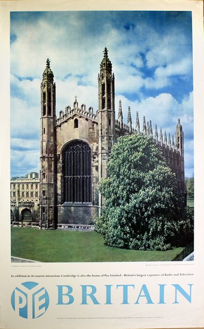 Britain - University of Cambridge - King's College Chapel original poster