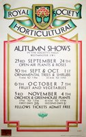 Royal Horticultural Society Autumn Shows