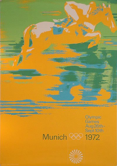 Munich 1972 - A0 - Riding original poster designed by Aicher, Otl (1922-1991)
