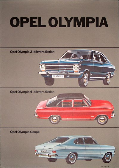 Original Vintage Poster Opel Olympia For Sale At Posterteamcom
