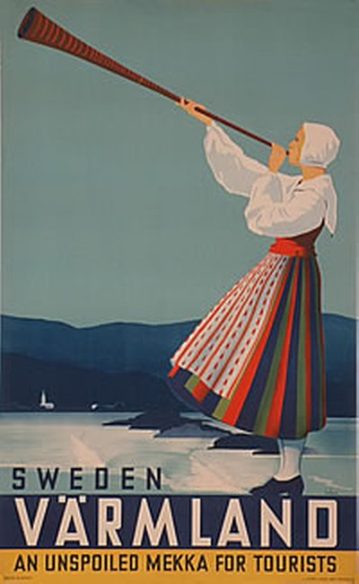Sweden - Värmland original poster designed by Beckman, Anders (1907-1967)