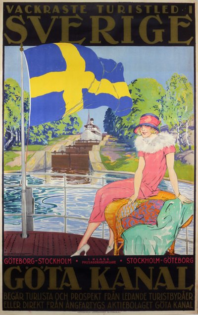 Göta Kanal - Sweden poster designed by Proessdorf, Fred (1882-1925)