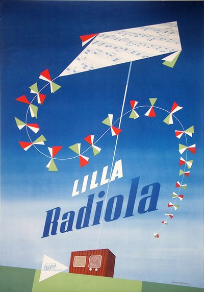 Ericsson's Radio - Lilla Radiola original poster designed by Beckman, Anders (1907-1967)