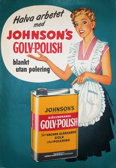 Johnson's Floor Polish original poster designed by Ervaco