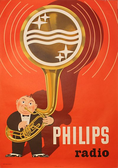 Philips Radio original poster designed by Anders Beckman