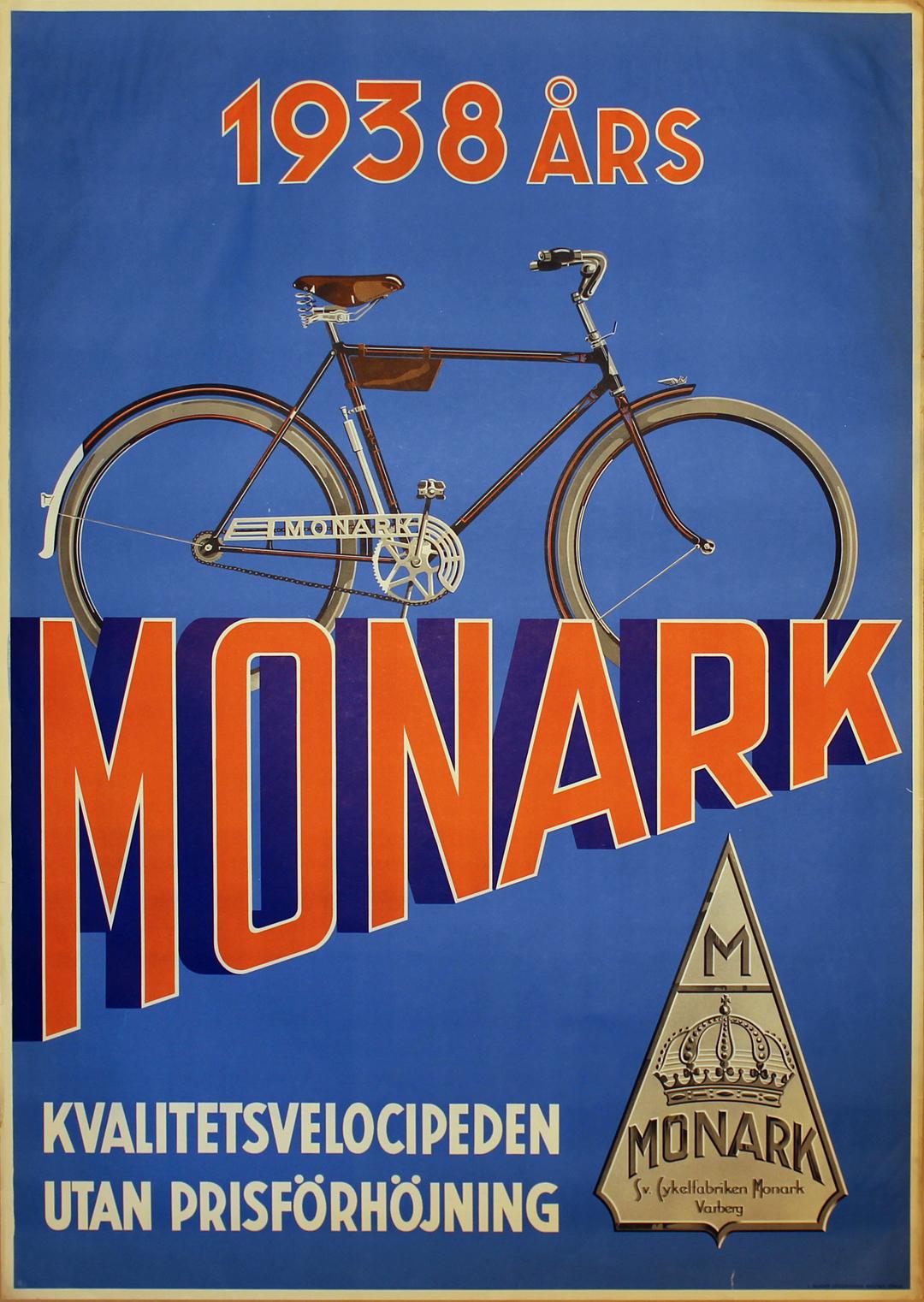 Original vintage poster: Monark Bicycle Poster for sale at ...